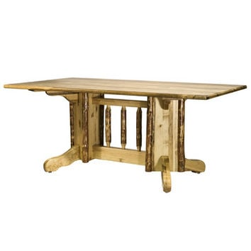 Montana Woodworks Glacier Country Double Pedestal Dining Table