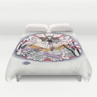 THE MONSTER PAINTED PART II Duvet Cover by VinceGabriel