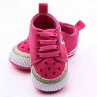 Toddler Baby Fruit Printed Casual Sneakers Shoes Boys Girls Non-Slip Lace Shoes