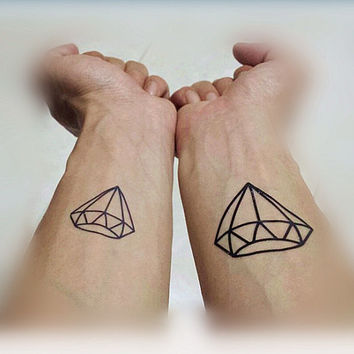 2pcs Diamond temporary tattoo fake tattoo body art small tattoo