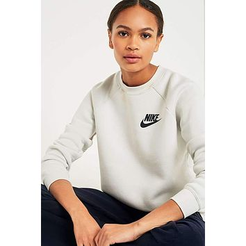 LACOSTE Fashion Casual Women Men Round Neck Long Sleeve  Sweater White G-KWKWM