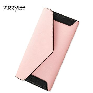 2017 New Womens Wallets Long Hasp Purse For Luxury Female Wallet Patchwork Design Leather Women Purses Lady Clutch Card Holder