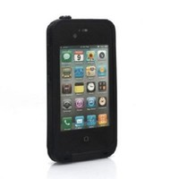 Water proof Shockproof Case Life Dirt Proof Durable Cover Fits Apple Iphone 4 4s (Purple)