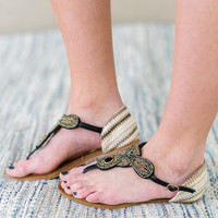 Winnie Beaded Thong Sandal