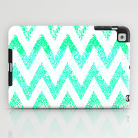 mint chevron iPad Case by Marianna Tankelevich