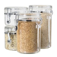 Oggi 4-pc. Locking Kitchen Canister Set With Spoons