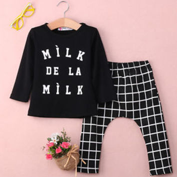 Newborn Toddler Baby Boys Girl Tops T-shirt+Pants 2pcs Outfits Set Clothes 0-3Y