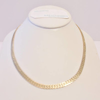 Vintage Flat Link Chain Necklace Unisex Retro Jewelry Korea Gold Tone Fashion Accessories