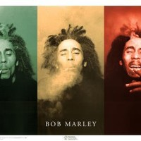 Bob Marley (3 Faces, Smoking) 36x24 Music Art Print Poster College Dorm Room