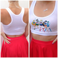 Sailor Moon Halter Crop Top