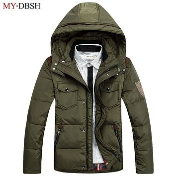 High Quality Men's Multi-pocket Feather Parkas Coat Winter Duck Down Jackets Hooded Jacket Plumed Camperas Man Casual Outer Wear