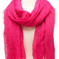 Lightweight Sequin-Embellished Scarf by Charlotte Russe