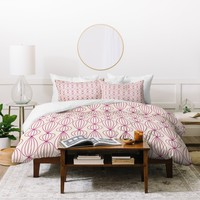 Gabi Lanterns Berry Duvet Cover
