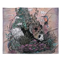 "Mat Miller ""Land of The Sleeping Giant"" Panda Fleece Throw Blanket"
