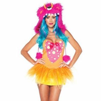 Shaggy Shelly Costume Rave Anime Cosplay Halloween Party Goth Sexy size - M/L