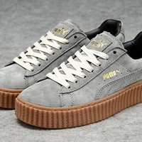 Puma Fenty by Rihanna Grey Brown Creepers Men's Women's Suede Shoes