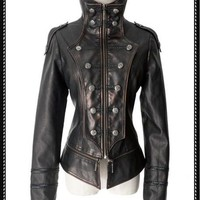 Steam punk military tail jacket(Female)