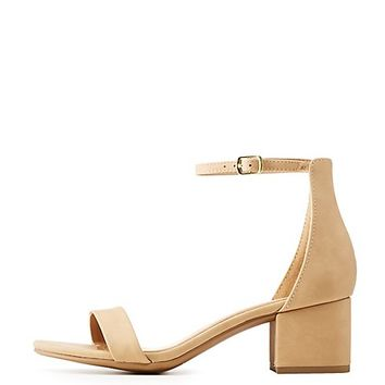 Two-Piece Dress Sandals   Charlotte Russe