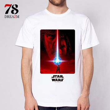 the last jedi Star Wars 8 movie film male t-shirt Star Wars Episode VIII mens t shirt clothing quality Tshirt tops tees