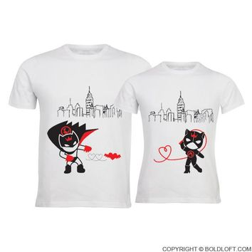 We're Irresistibly Attracted™ His and Hers Shirts,Matching Couple Shirts,Gift for Couple,Boyfriend Gift,Girlfriend Gift,Batman Catwoman