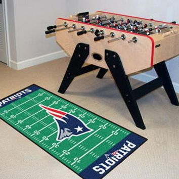 FANMATS New England Patriots Field Runner Mat Area Rug, Man Cave, Bar, Game Room
