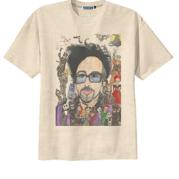 Retro Tim Burton Animation Film Director T-Shirt Tee Organic Cotton Vintage Look Size S M L