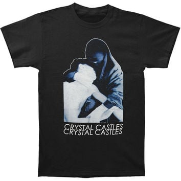 Crystal Castles Men's  Burka Slim Fit T-shirt Black Rockabilia