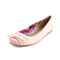 Pleated Toe Sueded Ballet Flat: Charlotte Russe