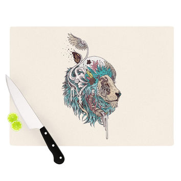 "Mat Miller ""Unbound Autonomy"" Abstract Lion Cutting Board"