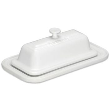Le Creuset® 7 3/5-Inch Butter Dish in White