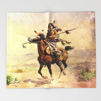 Nobleman of the Plains Throw Blanket by Jbjart | Society6