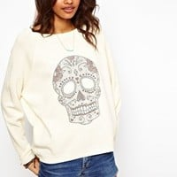 ASOS Studded Skull Jumper at asos.com