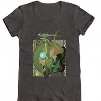 Marvel Loki Kawaii God of Mischief Juniors Charcoal T-Shirt