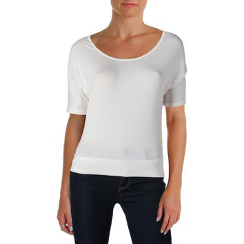 Rebellious One Womens Juniors Open Back Dolman Sleeves T-Shirt
