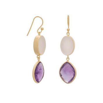 Amethyst and Druzy Earrings