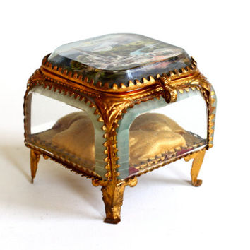 Antique French Jewelry Box - Boudoir Jewellery Casket