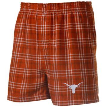 Texas Longhorns Empire Flannel Boxer Shorts - Burnt Orange