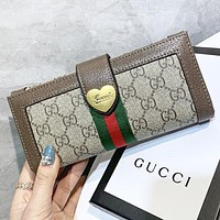 GUCCI Fashion New stripe more letter handbag wallet purse women