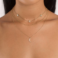 Daydreaming Crescent Layered Choker