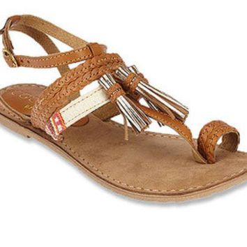 ICIKAB3 Matisse Chico Tan Leather Sandals