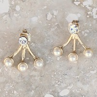 Trendy Pearl Ear Cuffs-Pearl Illusions Ear Cuff-$20.00 | Hand In Pocket Boutique