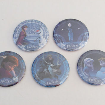Disney Frozen Magnet Set of 5 - Birthday Party Favors - Pinata Prizes - Frozen Birthday - Elsa - Anna - Olaf