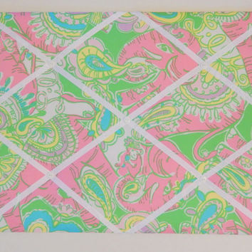 New memo board made with Lilly Pulitzer Chin Chin fabric