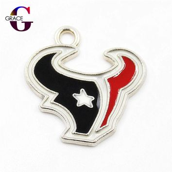 Houston Texans Team Football Sports Dangle Charms Hanging Floating charm For DIY Women Bracele&bangles Necklace Pendant Jewelry