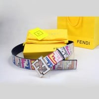 FENDI Woman Fashion Smooth Buckle Belt Leather Belt H 8-15
