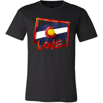 Love Colorado State Flag Map Outline Souvenir Gift T-shirt