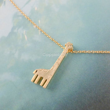giraffe necklace in gold or silver