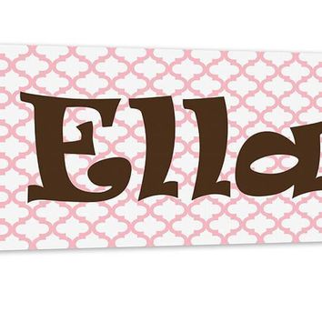 Girl Personalized Name Canvas Wall Art Panoramic