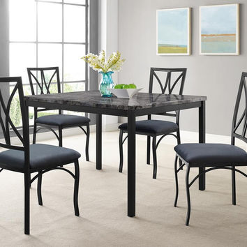 Zeus Marble and Grey Top Dinette