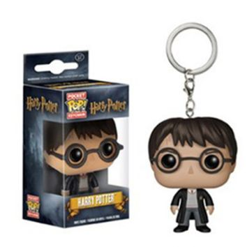 2 PCS Stationery Set 10cm Harry Potter Arts KAI Action Figure with Gift Box Key Chain Funko Pop Movie Baby Toys Baby Assemablage